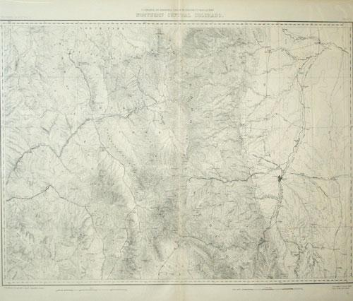 Northern Central Colorado, U.S. Geological and Geographical Survey of the Territories, Surveyed in ...