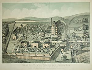 Bird's Eye View of Confederate Prison Pen.: John Henry Bufford