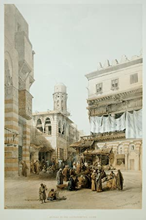 Bazaar of the Coppersmiths, Cairo from Views in the Holy Land, Syria, Idumea, Arabia, Egypt and ...