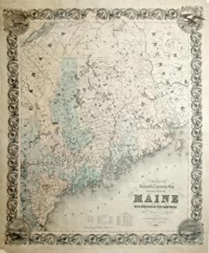 Colton's Railroad & Township Map of the State of Maine with Portions of New Hampshire.: J....