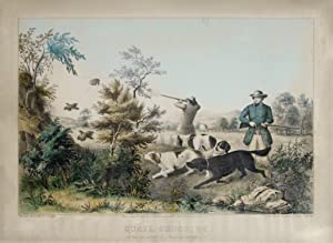 Quail Shooting: Setters the Property of S. Palmer, Esq., Brooklyn, L.I.: Currier and Ives