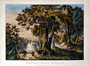 Western River Scenery: Currier & Ives