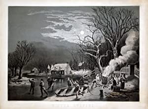 Winter Evening: Currier & Ives