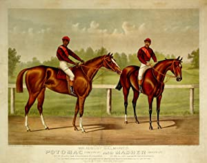 Mr. August Belmont's Potomac [Hamilton Up] and Masher [Bergen Up]: By St. Blaise. Dam ...