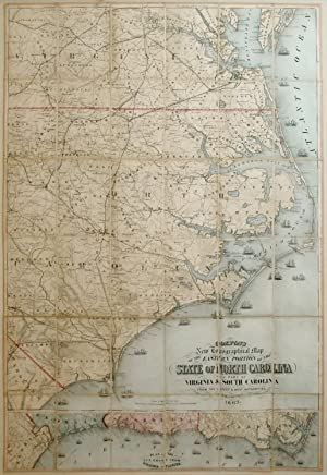 New Topographical map of the eastern portion of the state of North Carolina: Joseph Hutchins Colton...