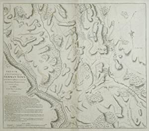 Sketch of the Surprise of German Town, by the American Forces commended by General Washington, ...