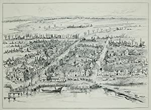 The Ruins of Hampton Virginia. Inscribed bottom left hand corner, Burnt by General Magruder, C.S.A....