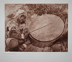 The Drummer - Nunivak, Plate 692 from The North American Indian. Portfolio XX: Edward S. Curtis (...