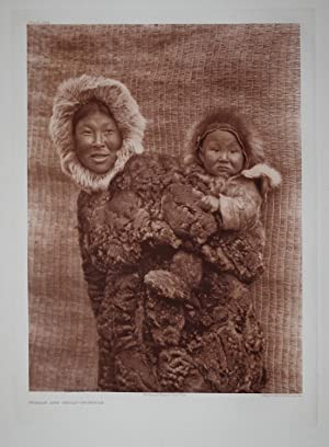 Woman and Child - Nunivak, Plate 694 from The North American Indian. Portfolio XX: Edward S. Curtis...