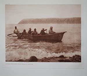 Diamede Boat Crew, Asiatic Shore in the Distance, Pl. 705 from The North American Indian. Portfolio...