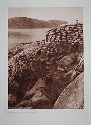 Old Stone House - Diomede Island, Pl. 706 from The North American Indian. Portfolio XX: Edward S. ...