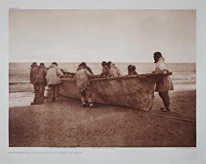 Launching the Whale Boat - Cape Prince of Wales, Pl. 707 from The North American Indian. Portfolio ...