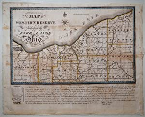 Map of the Western Reserve Including the Fire Lands in Ohio. Nelson, Ohio: William Sumner, ...