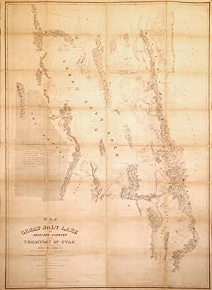 Map of the Great Salt Lake And Adjacent Country in the Territory Of Utah. Surveyed in 1849 and 1850...