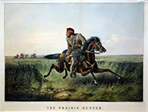 """The Prairie Hunter: """"One Rubbed Out!"""": Currier, after Arthur F. Tait."""
