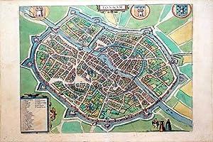 Tornacum (Tournai): Georg Braun & Frans Hogenberg