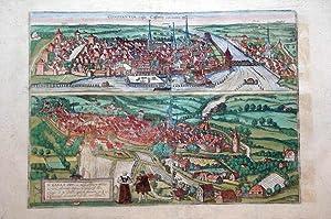 Constantia; S. Galli (Konstanz; Sankt Gallen): Georg Braun & Frans Hogenberg