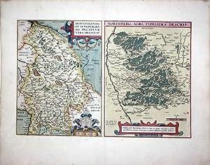 Bravnsvicensis et Lvnebvrgensis dvcatvvm vera dekubat. Norimberg. Agri, Fidissima descrip. 1590. (...