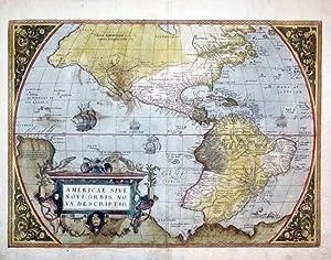 Americae sive Novi Orbis, Nova Descriptio: Abraham Ortelius