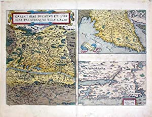 Carinthiae Ducatus, Et Gorgi: Tiae Palatinvs, Wolf. Lazio/Histriae Tabula a Petro Coppo descr....