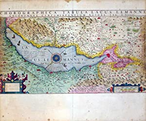 Chorographica Tabula Lacus Lemanni (Lake Geneva region of Switzerland): Mercator-Hondius