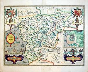 Merionethshire Described 1610/Harlech (inset): John Speed