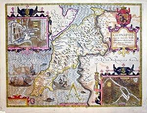 Caernarvon Both Shire and shire-towne with the ancient Citie Bangor described Anno Domini 1610&#x2F...