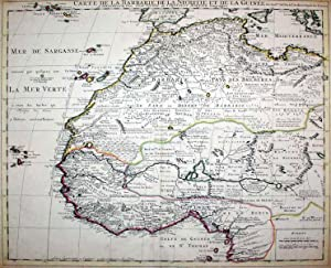 Carte de la Barbarie de la Nigritie et de la Guinee (Barbary Coast/Niger/Guinea): J. ...