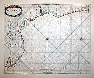Pas-Caart van Guinea en de Custen daer aen gelegan van Cabo verde tot Cabo de Bona Esperanza: ...