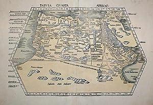 Tabula Quarta Africae: Claudius Ptolemy & Martin Waldseemuller
