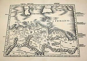 Tabula Secunda Africae: Claudius Ptolemy & Martin Waldseemuller