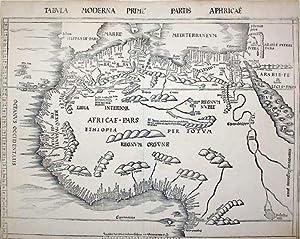 Tabula Moderna Prime Partis Aphricae: Claudius Ptolemy & Martin Waldseemuller