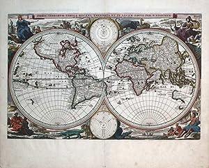 Orbis Terrarum Tabula Recens Ememndata Et In Lucem Edita Per N. Visscher: Nicolas Visscher