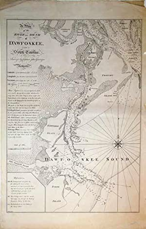 A Plan of the River and Sound of D'Awfoskee in South Carolina. Survey'd by Captain John ...