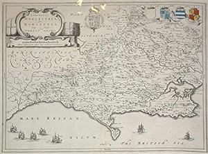 Comitatus Dorcestria, sive Dorsettia; Vulgo Anglice Dorset Shire (Dorset): Mercator/Jansson