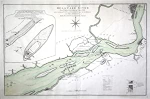 The Course of Delaware River from Philadelphia to Chester with the Several Forts and Stackadoes ...