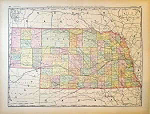 Rand, McNally & Co.'s New Business Atlas Map of Nebraska: Rand, McNally & Co.