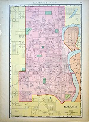 Rand, McNally & Co.'s New Buisness Atlas Map of Omaha: Rand, McNally & Co.