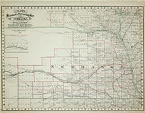 Cram's Rail Road & Township Map of Nebraska: Geo. F. Cram