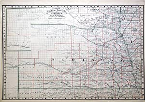 Cram's Rail Road & Township Map of Nebraska.: Geo. F. Cram