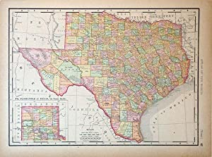 Rand, McNally & Co.'s Universal Atlas Map of Texas: Rand, McNally & Co.
