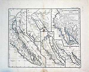 Carte de la Californie Suivant/I la Carte manuscrite l'Amerique de Mathieu Neron Pecci ...