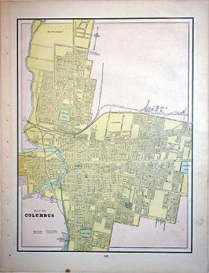 Map of Columbus (Ohio): George Cram