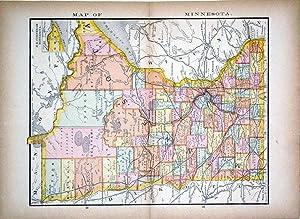 Map of Minnesota: Rand, McNally & Co.