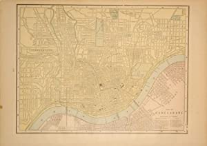 Map of Cincinnati: Geo. F. Cram