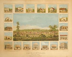 Jacksonville, Jackson County, Oregon, T. 1856 Published by W. W. Fowler & C.C. Beekman.: Kuchel...