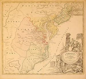 Virginia Marylandia et Carolina in America Septentrionali Britannorum industria excultae ...