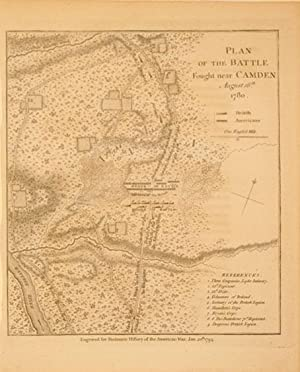 Plan of the Battle Fought near Camden August 16th 1780. (South Carolina): Charles Stedman