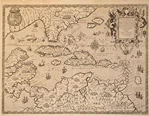 Occidentalis Americae partis, vel earum Regionum quas Christophorus Columbus primu detexit Tabula ...