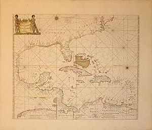 Pascaerte van Westindien De Vaste Kusten En de Eylanden/(inset) Het Canael tusschen Havana aen...
